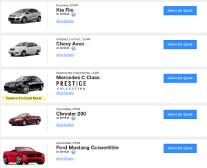 Demo of hidden feature to find cheaper rental car rates